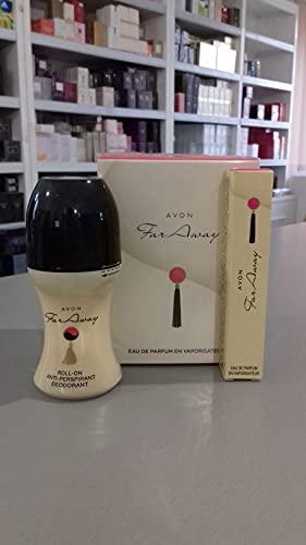 Avon Set far away avon eau de parfum 50 ml deo-roller mini-flasche 10 ml