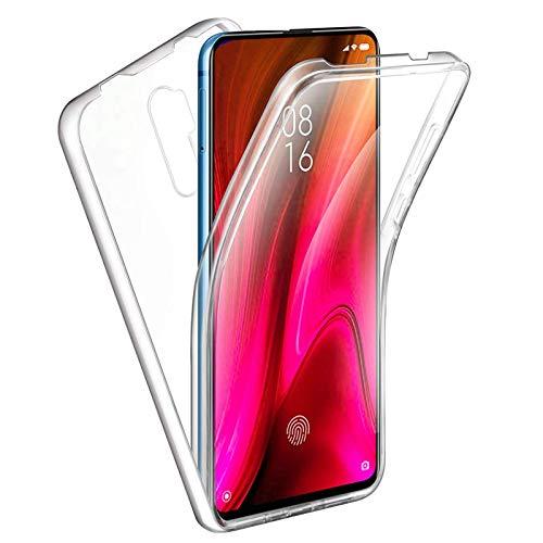 TBOC Funda para Xiaomi Redmi Note 8 Pro [6.53 Pulgadas] - Carcasa [Transparente] Completa [Silicona TPU] Doble Cara [360 Grados] Protección Integral Total Delantera Trasera Lateral Móvil