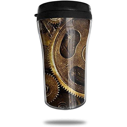 Steampunk-Uhren_-_ Google_ \u0026 Aelig; \u0026 Oelig; Reisekaffeetasse 3D Gedruckt Tragbare Saugnapf, Isolierte Teetasse Wasserflasche Becher zum Trinken Mit Deckel 8,54 Unzen (250 ml)
