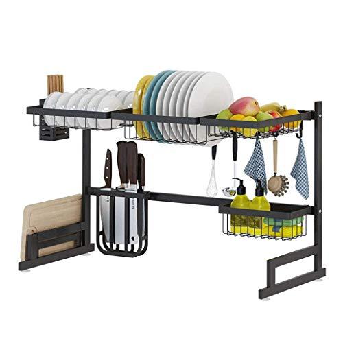 Schappen Wastafel droogrek, bestek 304 roestvrij staal staan met snijplank houder for keukengerei mand 85 * 32 * 52cm bloempot Rek XIUYU