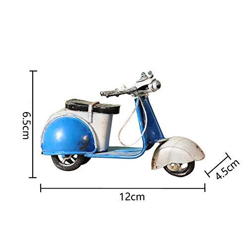 DIAOSUJIA sculptuur, blauw motormodel kleine schapen strijkijzers motor figuren vintage huis decoratie motorfiets Romeinse vakantie souvenirs kerstdecoratie