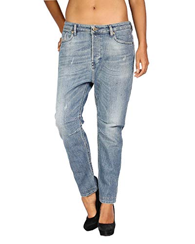 Diesel Damen Eazee Relaxed Boyfriend Jeans 0828W, Indigo, 27W x 32L