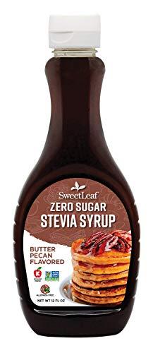 SweetLeaf Zero Sugar Stevia Syrup, Butter Pecan, 12 Fl Oz