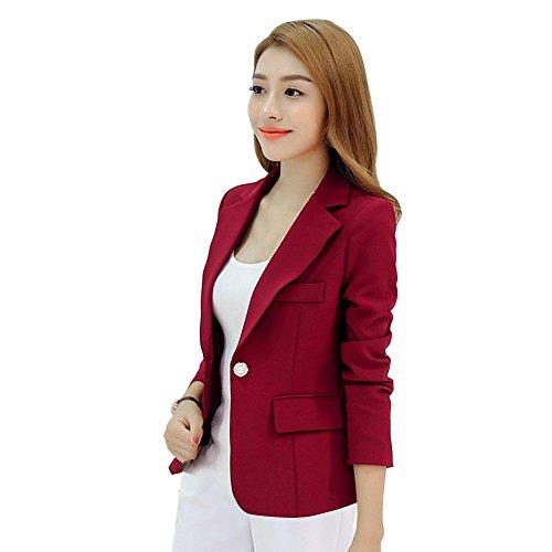 Efinny jaqueta feminina de trabalho com blazer executivo para trabalho OL casaco de manga comprida (Enviado dos EUA!)
