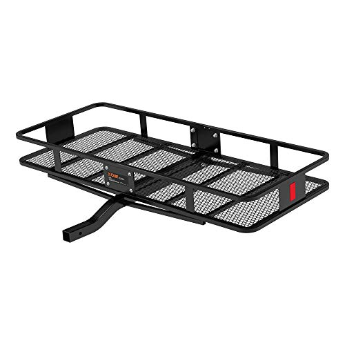 CURT 18152 60 x 24-Inch Basket Hitch Cargo Carrier, 500 lbs Capacity, Black Steel, 2-in Fixed Shank