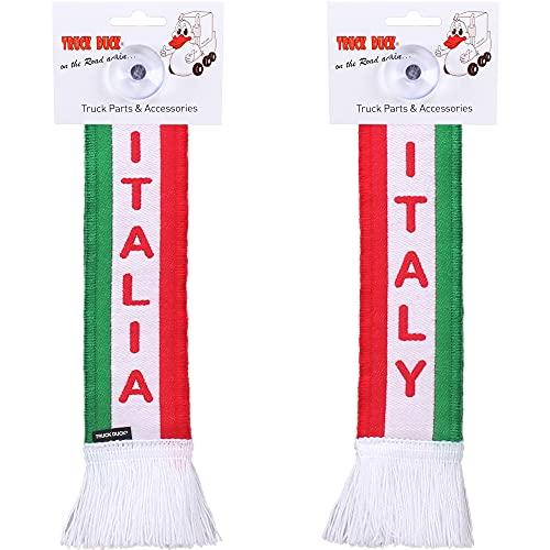 TRUCK DUCK® LKW Auto Minischal Italy Italien Trucker Mini Schal Wimpel Flagge Fahne Saugnapf Spiegel Deko