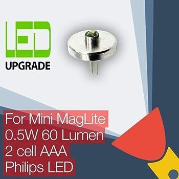 Mini Maglite LED Ampoule Conversion/mise à niveau pour Mini Maglite Lampe torche/lampe torche 2 AAA Cellule Philips LED