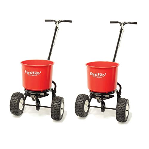 Earthway 2600A Plus Commercial 40 Lb Capacity Seed Fertilizer Spreader (2 Pack)