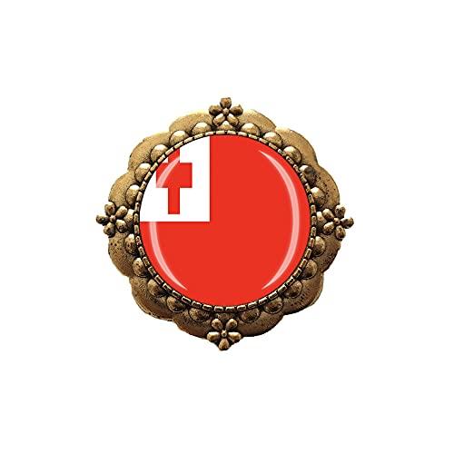 Broche de estilo de la bandera de Tonga Pin de la decoración de la ropa insignia