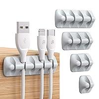[➤Verschiedene Design Kombinationen] - Erhältlich mit von einem bis zu fünf verschieden großen Löchern, um deinem individuellen Bedarf im Haushalt oder Büro zu entsprechen. Nur anwendbar auf Kabel mit einem Durchmesser von weniger als 5 mm, nicht anw...