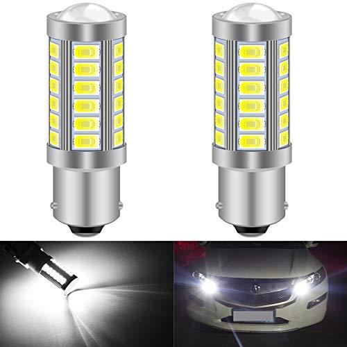 KATUR 2pcs BAU15S 7507 1156PY PY21W 5630 33-SMD Blanc 900 Lumens 8000K Super Bright LED Tourner Le Frein d'arrêt Signal Signal Lampe Ampoule 12V 3.6W