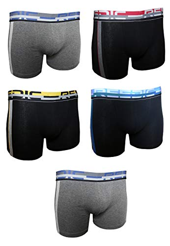 Reedic Herren Boxershorts, Baumwolle, 5er Pack, Größe X-Large (XL), Farbe je 5X Surprise Color Mix