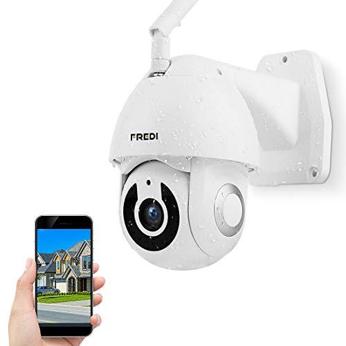 Cámara IP Dome PTZ Fredi exterior con WiFi, 1080P, HD, WiFi, IP, para exterior, infrarrojos, IP65, resistente al agua, alerta de movimiento, cámara de seguridad