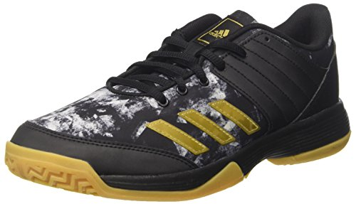 adidas Ligra 5, Chaussures de Volleyball Homme, Multicolore (Core Black/Gold Met./FTWR White), 42 EU