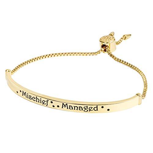 Harry Potter Women's Silver Plate Bar Lariat Bracelet