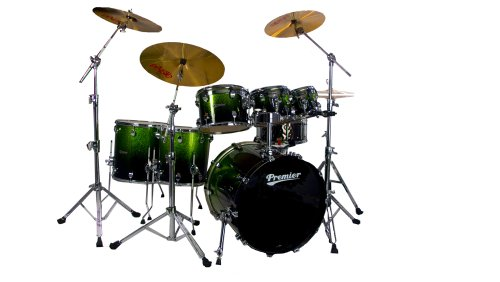 Premier Series H289962QAPF Elite Schlagzeug-Set, Apple Sparkle Fade, 6-teilig