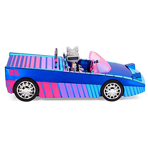 LOL Surprise Dance Machine Car with Exclusive Doll, Surprise Pool, Dance Floor and Magic Black Light