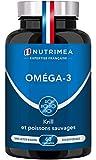 Omega 3 et Krill d'Antarctique | Cognition, Santé cardiaque et Système immunitaire | Huile de poissons sauvages pure | Fish oil...