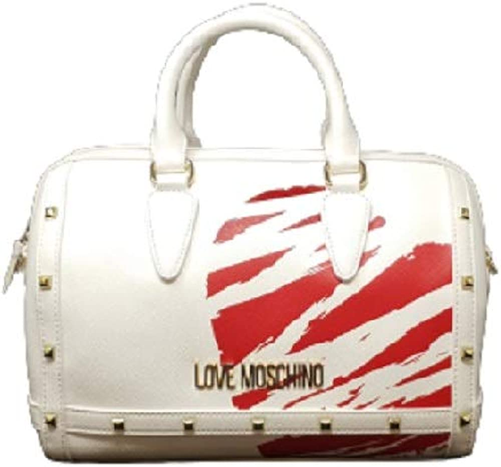 Love moschino, borsa da donna a bauletto,in pelle sintetica e borchie JC4075PP1CLG110A