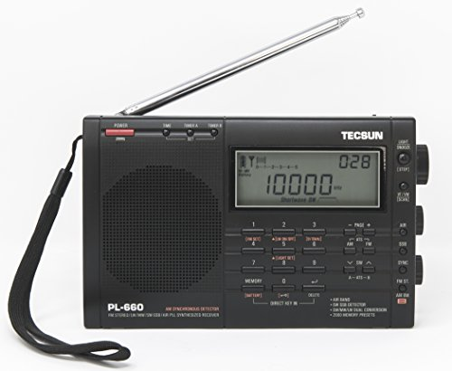 Tecsun PL-660 Portable AM/FM/LW/Air Shortwave World Band Radio with Single Side Band, Black