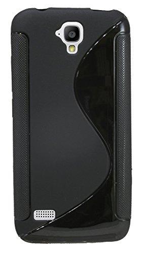 ENERGMiX Silikon Hülle S-Line kompatibel mit Huawei Y560 Tasche Case Zubehör Schale in Schwarz - 3