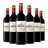 Château Hourtou - AOP Côtes de Bourg - Vin Rouge - Millésime 2015 - Terra Vitis - Lot de 6 bouteilles x 75 cl