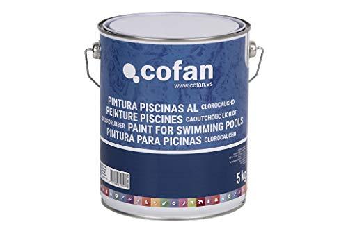 Cofan 15002398 Pintura Piscinas clorocauchó, Azul Oscuro, 5 kg