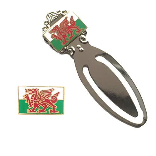 Smartbadge® Wales Cymru Drache Emaille-Abzeichen & Wales Cymru Drache Lesezeichen T927