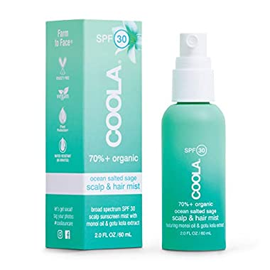 COOLA Organic Scalp Spray & Hair Sunscreen Mist, Skin Care for Daily Protection, Broad Spectrum SPF 30, Ocean Salted…