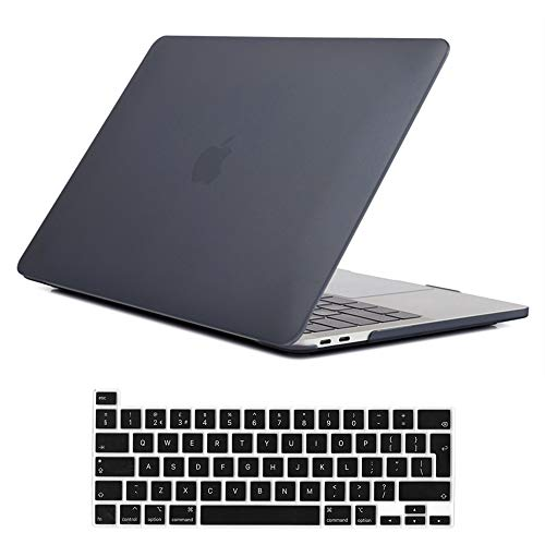 Se7enline Macbook Pro 16 inch Case 2020 2019 Smooth Plastic Hard Shell Protective Laptop Cover for MacBook Pro 16-inch A2141 with Touch Bar Touch ID with Silicone Keyboard Cover, Frost Black