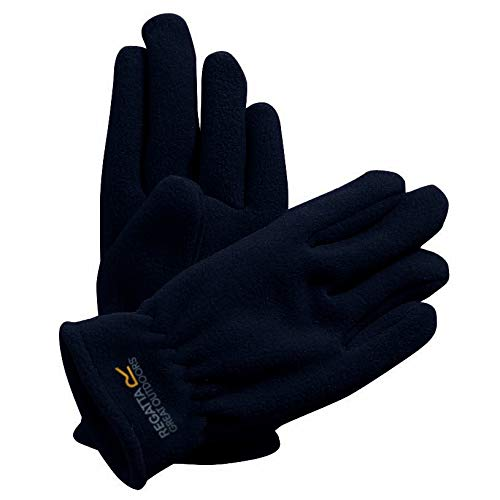Regatta Unisex, Kinder Taz II' Anti Pill Fleece Gloves Handschuhe, Schwarz, 11-13