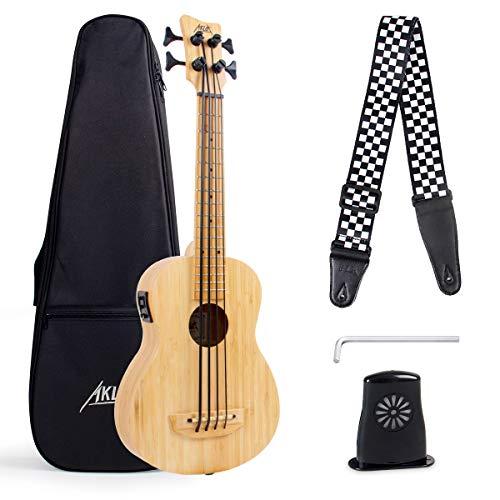 Ukelele bajo AKLOT Bamboo Electric Bass Baritone 30