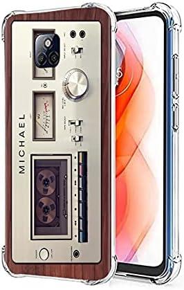 Cassette Tape Moto G Stylus 2021 Case, Cool Vintage 80s 90s Music Cassette Mixtape Retro Phone Case for Women Men Boys Girls Matte Finish Soft Slim Back Cover Bumper Protective TPU Cassette Tape Case