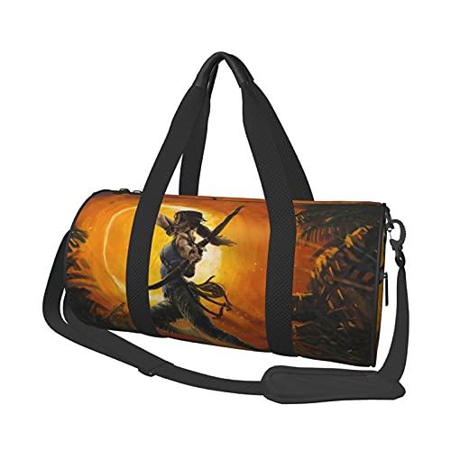 Tomb Raider Bolsa de viaje de corta distancia de gran capacidad para oficina, viajes, natación, fitness, moda, impermeable, portátil, bolsa de viaje