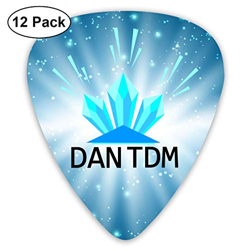 Dan Tdm Logo Sampler Guitar Picks - 12 Pack Unique Accessory For Guitar Player Best Gift For Guitarist