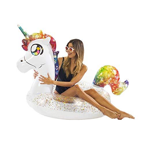 """PoolCandy Jumbo 48"""" Animal Water Tubes, Unicorn"""