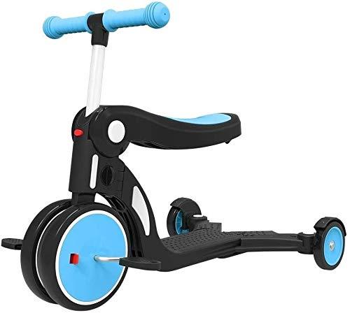 Xiaoyue Fahrräder Kinder Scooters Kinder Indoor Heimtrainer 1-3-6 Einjahresschätzchen Balance Auto Multifunktions dreirädrigen Fahrrad (Farbe: gelb) lalay (Color : Blue)