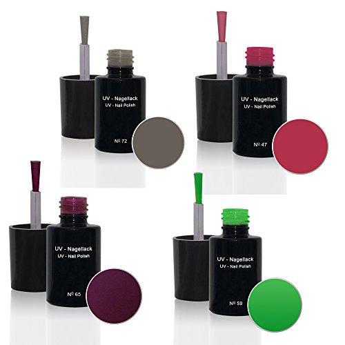 UV Vernis à ongles Set 4 x6ml - UV Vernis à ongles Set N°1