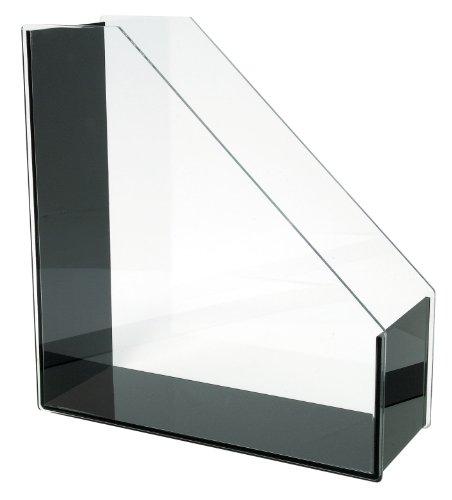 Wedo 601301 Acryl Stehsammler (A4 Acryl Exklusiv) glasklar/schwarz