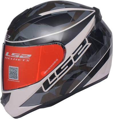 LS2 Helmets - FF352 Rookie - Recruit - Gloss Black Grey - Single Mercury Visor Full Face Helmet - (Large - 580 MM)