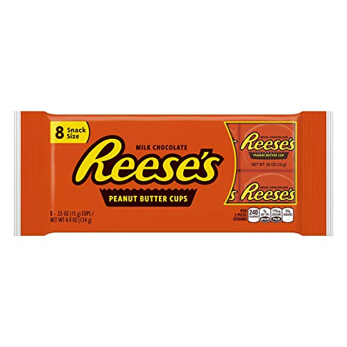 REESE'S, Peanut Butter Cups Snack Size, 4.4 oz, Set of 2