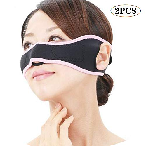 KPTKP V-Linie Wangenkorrektur Gürtel, Doppelkinn Reducer Chin-Flecken Gesicht Thin Masseter-Muskel Face-Lift-Tool, Wange-Thin Massage 2ST