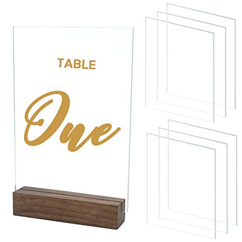 JINMURY 10 Pieces 5x7 Inch Clear Acrylic Sheets Blank Acrylic Signs, Perfect for DIY Wedding Table Numbers, Acrylic Table Signs, Engrave, Calligraphy and Painting DIY Projects,1/8 inch Thick