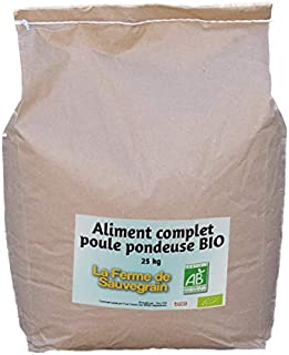 La Ferme Sauvegrain Aliment Complet Bio pour Les Poules pondeuses - 25kg