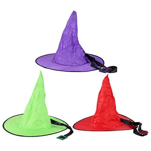 WINOMO Sombrero de Halloween Pary de 3 Piezas Que Brilla intensamente para Vestir tocados con Estilo Mago