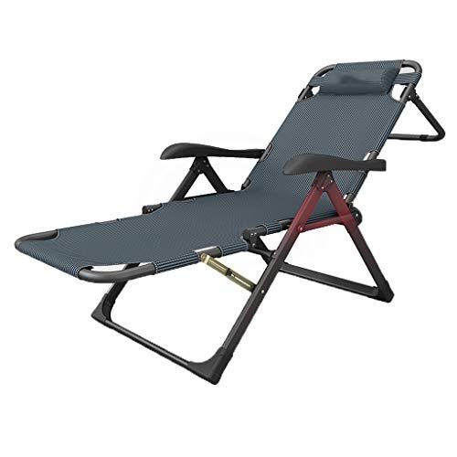 Draagbare campingstoel Beste gewatteerde klapstoel Outdoor strandstoel, opvouwbare w / 7 verstelbare posities Draagbare opvouwbare rugzak strand lounge stoel voor tuin, zwembad zonnebaden stoel fauteu