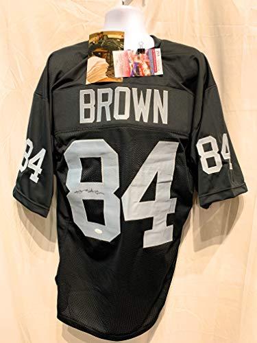 Antonio Brown Oakland Raiders Signed Autograph Black Custom Jersey JSA Witnessed Certified