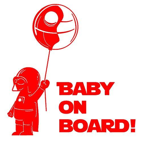 Porfeet Auto Aufkleber, Baby An Bord Cool Boy Lustiges Auto Fahrzeug Reflektierende Abziehbilder Aufkleber Dekoration Schwarz