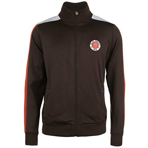 FC St. Pauli Logo Trainingsjacke Herren braun/rot, M