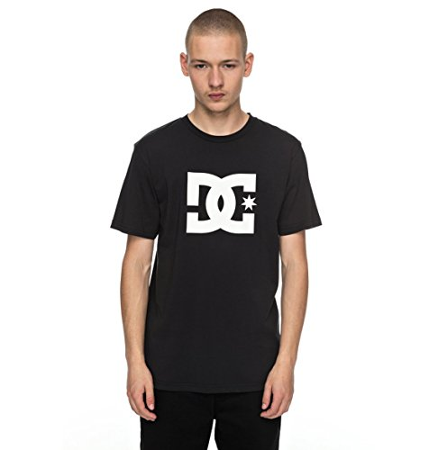 DC Shoes Star SS Camiseta, Hombre, Negro (Anthracite Solid), S